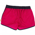 Metallic fabric shorts LITTLE MARC JACOBS for GIRL