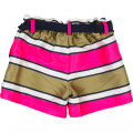 Striped shorts with belt THE MARC JACOBS for GIRL