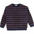 Lurex striped sweatshirt THE MARC JACOBS for GIRL