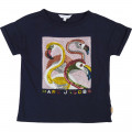 Flamingo patterned T-shirt LITTLE MARC JACOBS for GIRL