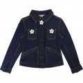 Denim jacket with flowers THE MARC JACOBS for GIRL