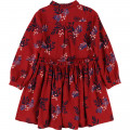 Twill dress with floral pattern CARREMENT BEAU for GIRL