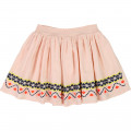 Embroidered skirt CARREMENT BEAU for GIRL