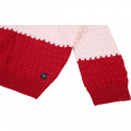 Two-tone knit jumper CARREMENT BEAU for GIRL