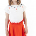 Round-neck embroidered T-shirt CARREMENT BEAU for GIRL