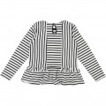 T-shirt with frills at waist CARREMENT BEAU for GIRL