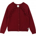 Knitted jersey cardigan CARREMENT BEAU for GIRL