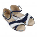 Serrated leather sandals CARREMENT BEAU for GIRL