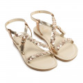 Braided sandals with buckle CARREMENT BEAU for GIRL