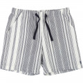 Elastic waist cotton shorts CARREMENT BEAU for BOY
