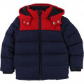 Two-tone hooded winter jacket CARREMENT BEAU for BOY
