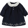 Lined flannel dress CARREMENT BEAU for GIRL