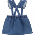 Stretch denim skirt CARREMENT BEAU for GIRL