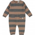 Knit baby grow with stripes CARREMENT BEAU for BOY