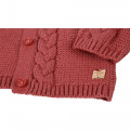 Novelty knitted cardigan CARREMENT BEAU for GIRL