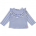 Striped frilled T-shirt CARREMENT BEAU for GIRL