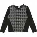 Dual-fabric sweatshirt KARL LAGERFELD KIDS for GIRL