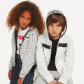 Reversible hooded jacket KARL LAGERFELD KIDS for GIRL