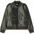 Water-repellent coated jacket KARL LAGERFELD KIDS for BOY