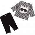 Cotton top and legging set KARL LAGERFELD KIDS for UNISEX