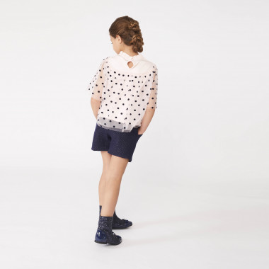 Blusa in tulle a pois CHARABIA Per BAMBINA