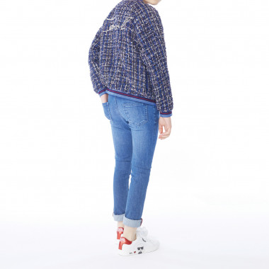 Pantaloni slim in denim KARL LAGERFELD KIDS Per BAMBINA