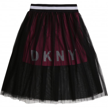 Gonna increspata in mesh DKNY Per BAMBINA