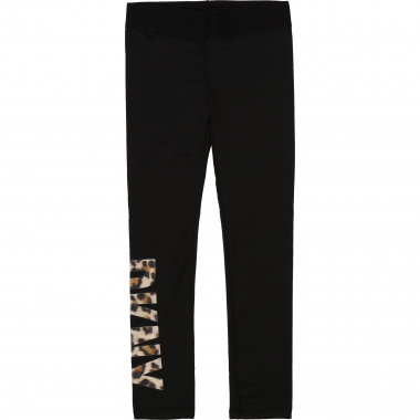 Leggings in jersey con stampa DKNY Per BAMBINA