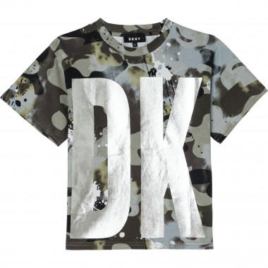 T-shirt in cotone stampato DKNY Per BAMBINA