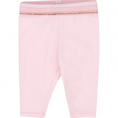 Leggings in jersey di cotone BOSS Per BAMBINA