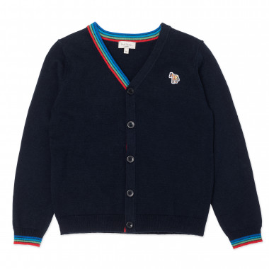 Cardigan con badge zebra PAUL SMITH JUNIOR Per RAGAZZO