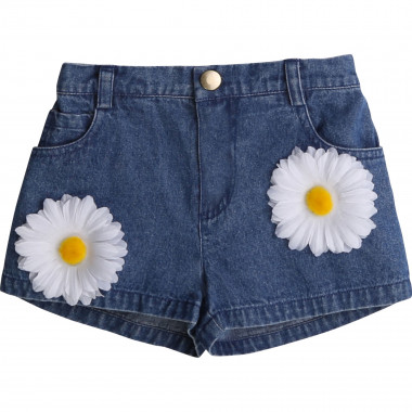Short in denim con fiori CHARABIA Per BAMBINA