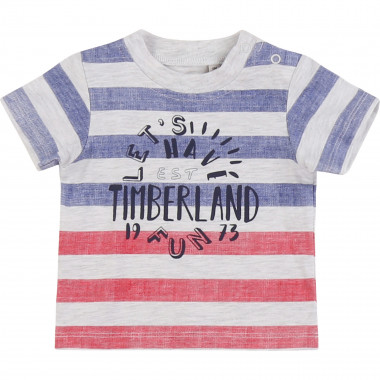 T-shirt in jersey a righe TIMBERLAND Per RAGAZZO
