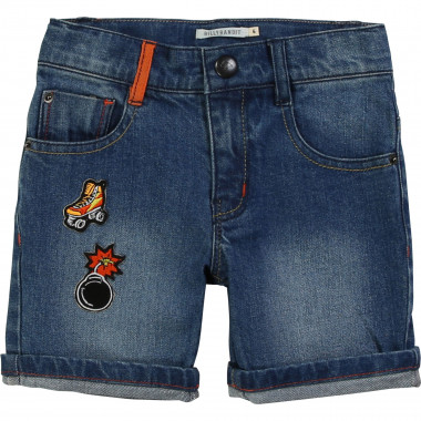 Shorts in denim con badge BILLYBANDIT Per RAGAZZO
