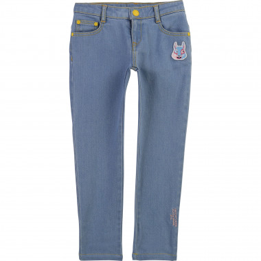 Jeans slim con patch ricamata THE MARC JACOBS Per BAMBINA