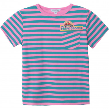 T-shirt in interlock a righe THE MARC JACOBS Per BAMBINA