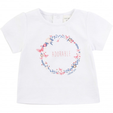 T-shirt in cotone con stampa CARREMENT BEAU Per BAMBINA