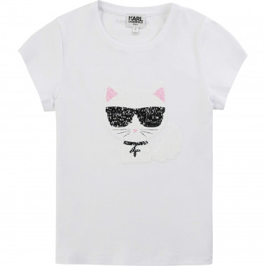 T-shirt paillettes multicolor KARL LAGERFELD KIDS Per BAMBINA