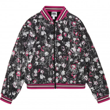 Bomber in twill con stampa KARL LAGERFELD KIDS Per BAMBINA
