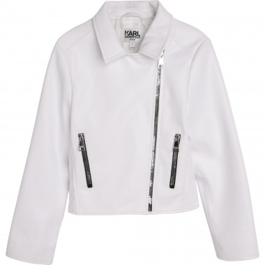 Giacca perfecto in similpelle KARL LAGERFELD KIDS Per BAMBINA