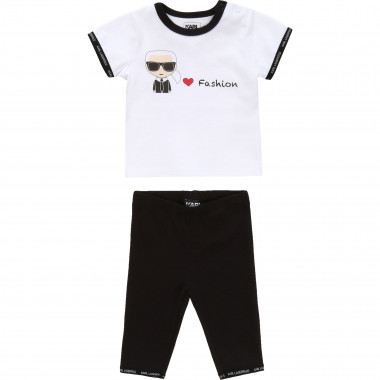 Set T-shirt e leggings KARL LAGERFELD KIDS Per UNISEX