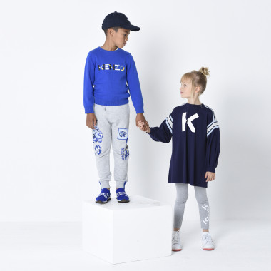 Cotton hat with logo KENZO KIDS for UNISEX