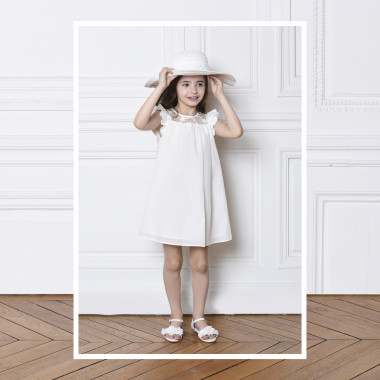 Cotton and silk formal dress CHARABIA for GIRL