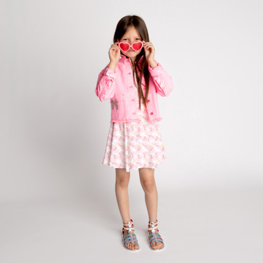 Sequined cotton drill jacket BILLIEBLUSH for GIRL