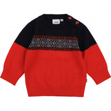 Knitted sweater 100% cotton BOSS for BOY