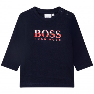 Jersey T-shirt with press studs BOSS for BOY