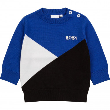 Combed cotton knit sweater BOSS for BOY