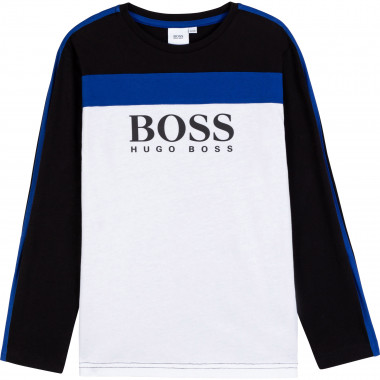 T-shirt with cutouts BOSS for BOY