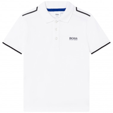 Polo with contrasting cutouts BOSS for BOY