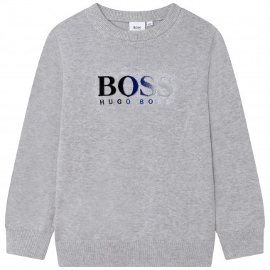 Tricot sweater with print BOSS for BOY